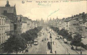 Anvers Strassenbahn Avenue Keyser Ville x