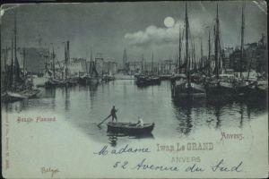 Anvers Bassin Flamand Mondscheinkarte x