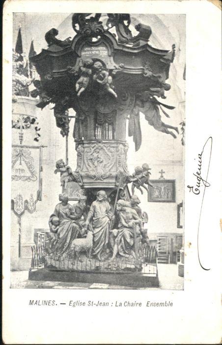 Malines Mechelen Flandre Malines Eglise St. Jean  x / Mechelen /Antwerpen