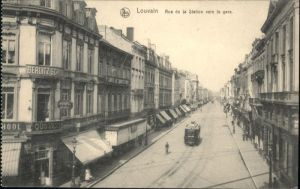 Louvain Strassenbahn Rue Station Gare x