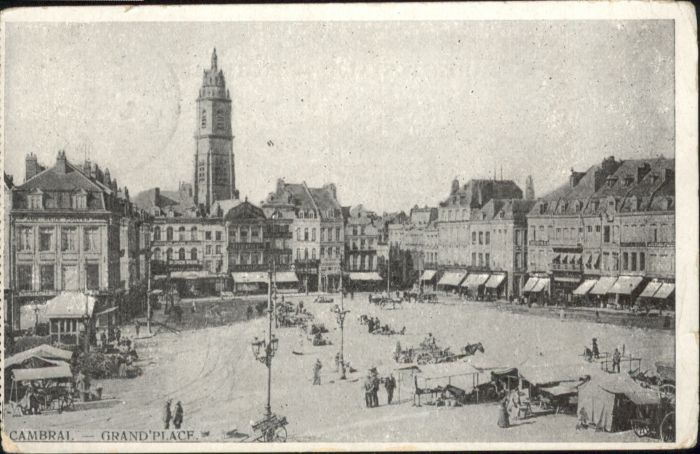 Cambrai Grand Place Marktplatz  x