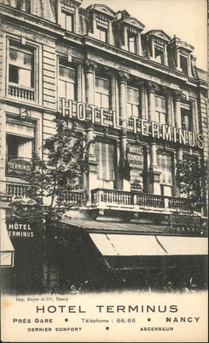 Nancy Lothringen Nancy Hotel Terminus  * / Nancy /Arrond. de Nancy