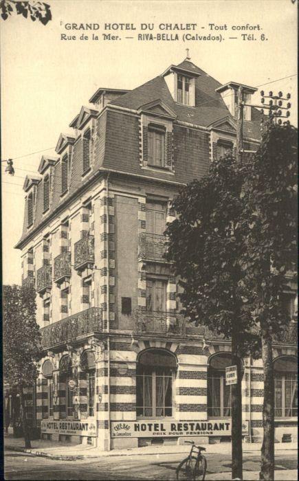 Riva-Bella Riva-Bella Calvados Grand Hotel Chalet Restaurant Rue Mer * / Ouistreham /Arrond. de Caen