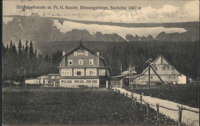 Schlingelbaude Prinz-Heinrich-Baude Riesengebirge x