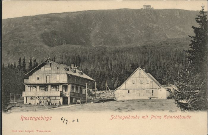 Schlingelbaude Prinz Heinrich Baude Riesengebirge *
