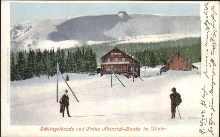 Schlingelbaude Prinz Heinrich-Baude Riesengebirge  *