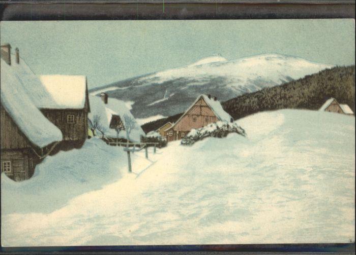 Grenzbauden Schneekoppe Riesengebirge  *