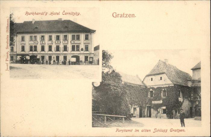 Gratzen Burkhardts Hotel Cernitzky Forstamt Schloss x