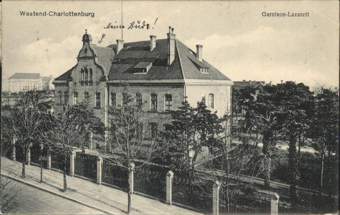 Charlottenburg Garnison-Lazarett / Berlin /Berlin Stadtkreis