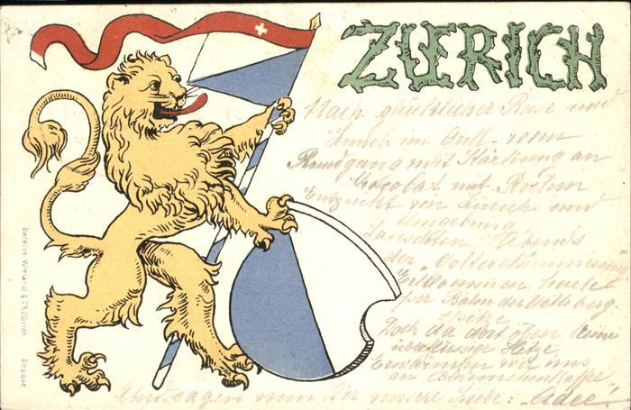 Zuerich Loewe, Wappen, Fahne / Zuerich /Bz. Zuerich City