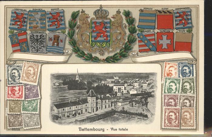 Bettembourg Wappen Luxembourg Briefmarken