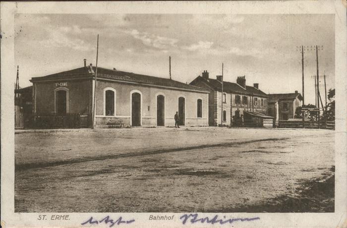 St Erme Bahnhof   Feldpost