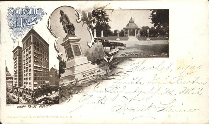 St Louis Missouri Union Trust Building Columbus Monument Music Pavillon /  /