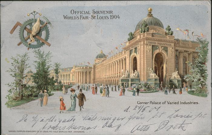 St Louis Missouri Corner Palace of Varied Industries /  /