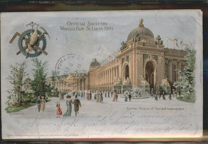 St Louis Missouri World's Fair Corner Palace of Varied Industries Litho /  /