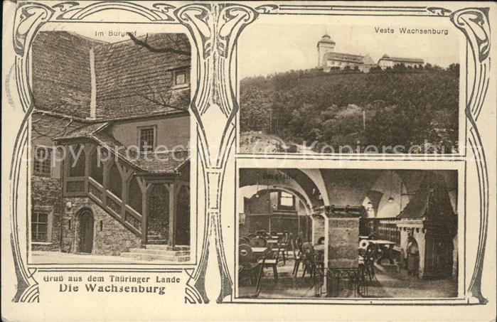 Wachsenburg Veste Burghof Kat. Wachsenburggemeinde