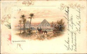 Kairo Les Pyramides de Gizeh Kat. Aegypten