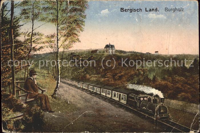 Burgholz Staatsforst Bergisches Land Dampf Eisenbahn Kat.