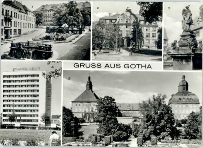 Gotha Thueringen Gotha Wasserkunst Schlossberg Rathausbrunnen Hochhaus Neumarkt Ingenieurschule fuer Bauwesen x / Gotha /Gotha LKR