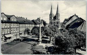 Duderstadt Duderstadt St Cyriakus Kirche Mariensaeule * / Duderstadt /Goettingen LKR