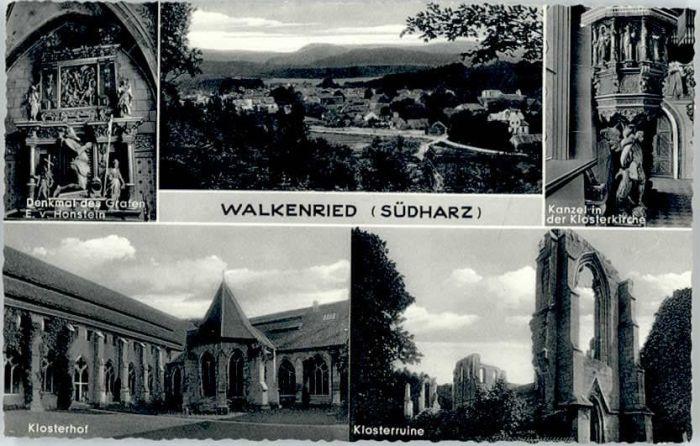 Walkenried Walkenried Denkmal Honstein Klosterruine Kloster Kirche  * / Walkenried /Osterode Harz LKR