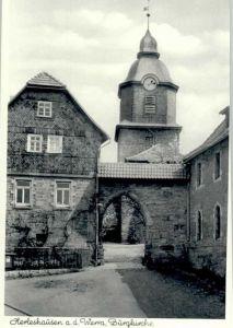 Herleshausen Herleshausen Burg Kirche  * / Herleshausen /Werra-Meissner-Kreis LKR