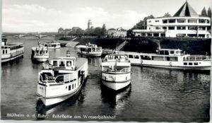 Muelheim Ruhr Muelheim Ruhr Ruhrflotte Wasserbahnhof * / Muelheim an der Ruhr /Muelheim Ruhr Stadtkreis