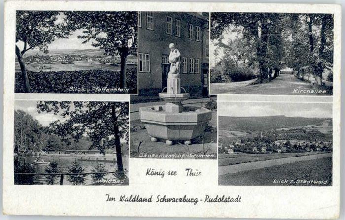 Rudolstadt Rudolstadt Gaensemaennchenbrunnen Waldbad x / Rudolstadt /Saalfeld-Rudolstadt LKR