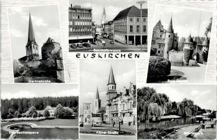 Euskirchen Euskirchen Martins Kirche Burg Satzfey Koelnerstrasse Steinbachtalsperre * / Euskirchen /Euskirchen LKR