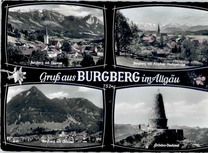Burgberg Allgaeu Burgberg Allgaeu  x / Burgberg i.Allgaeu /Oberallgaeu LKR