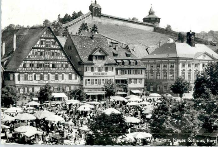 Esslingen Neckar Esslingen Marktplatz Rathaus Burg x / Esslingen am Neckar /Esslingen LKR