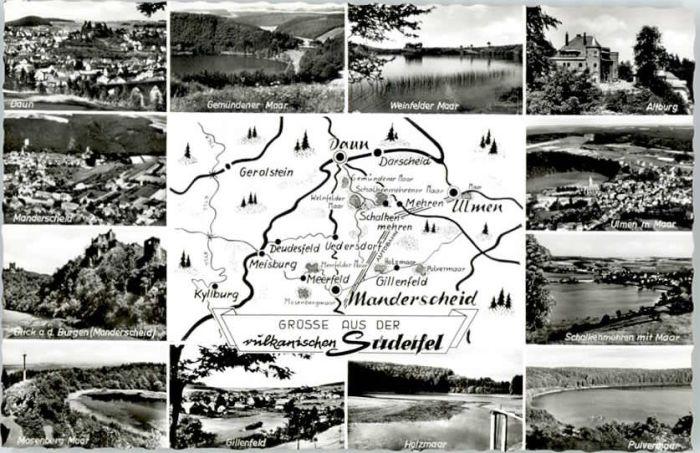 Manderscheid Eifel Manderscheid Altburg Holzmaar Ulmen Maar  * / Manderscheid /Bernkastel-Wittlich LKR