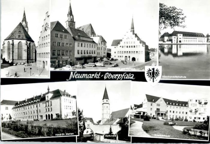 Neumarkt Oberpfalz Neumarkt Oberpfalz Hausst Marien Maedchenmittel Schule Hof Kirche  x / Neumarkt i.d.OPf. /Neumarkt LKR