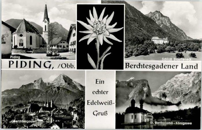 Piding Piding Schloss Stauffeneck St Bartholomae Berchtesgaden * / Piding /Berchtesgadener Land LKR