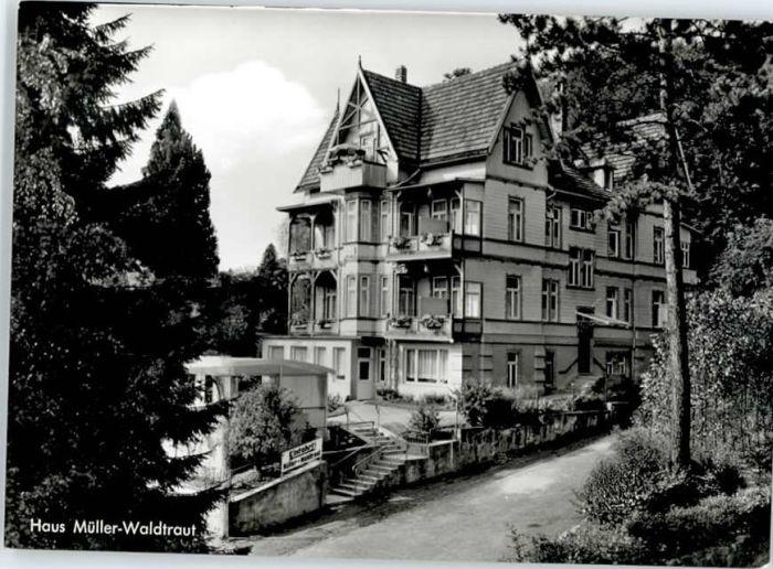 """AK Bad Harzburg Hotel """"Haus Brüdern"""" mit Innenansichten"""