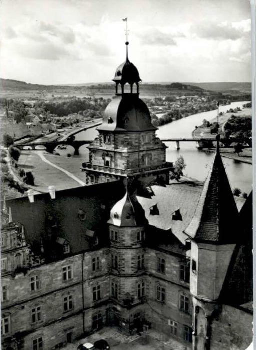 Aschaffenburg Main Aschaffenburg Schloss Johannisburg Mainbruecke x / Aschaffenburg /Aschaffenburg LKR