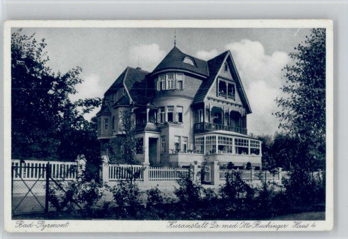Bad Pyrmont Bad Pyrmont Kuranstalt Dr Buchinger Haus 4 * / Bad Pyrmont /Hameln-Pyrmont LKR