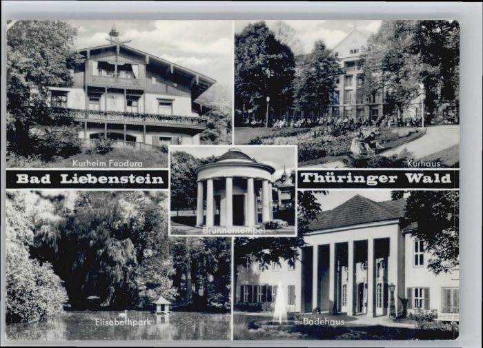 Bad Liebenstein Bad Liebenstein Kurheim Feodora Elisabethpark Badehaus x / Bad Liebenstein /Wartburgkreis LKR