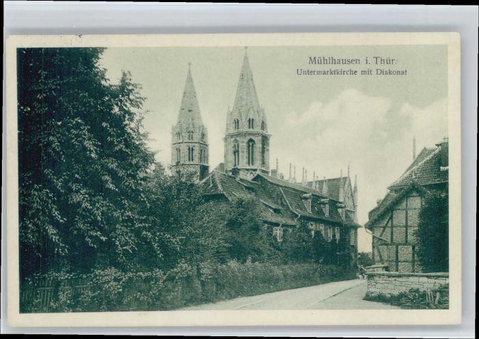 Muehlhausen Thueringen Muehlhausen Thueringen Untermarkt Kirche  x / Muehlhausen Thueringen /Unstrut-Hainich-Kreis LKR