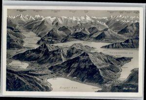Goldau Goldau Fliegeraufnahme Rigi Relief * / Goldau /Bz. Schwyz