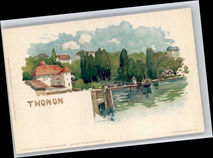 Thonon-les-Bains Thonon-les-Bains Kuenstler F. Voellm * / Thonon-les-Bains /Arrond. de Thonon-les-Bains