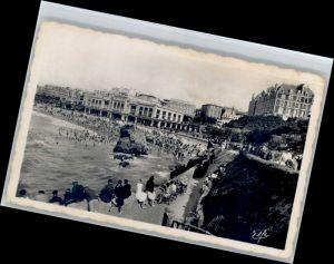 Biarritz Pyrenees Atlantiques Biarritz Plage Casino Grand Hotel Baigneurs x / Biarritz /Arrond. de Bayonne