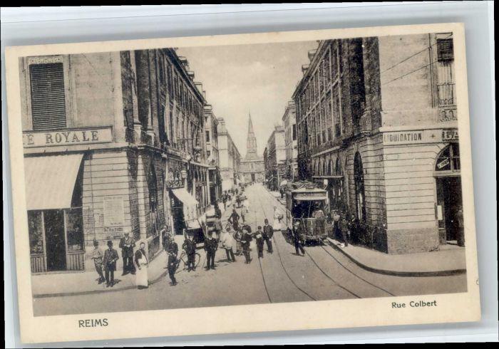 Reims Champagne Ardenne Reims Rue Colbert Strassenbahn  * / Reims /Arrond. de Reims