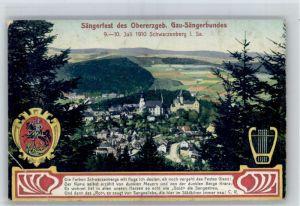 Schwarzenberg Erzgebirge Schwarzenberg Saengerfest x / Schwarzenberg /Erzgebirgskreis LKR