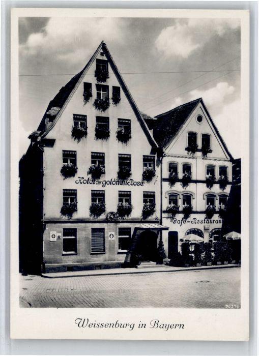 Ak weissenburg hotel goldene rose in der rosenstrasse nr for Hotel krone gunzenhausen