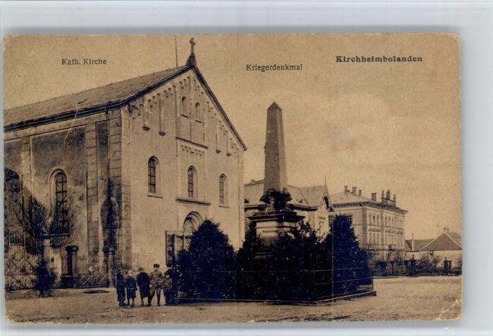 Kirchheimbolanden Kirchheimbolanden Kirche Kriegerdenkmal x / Kirchheimbolanden /Donnersbergkreis LKR