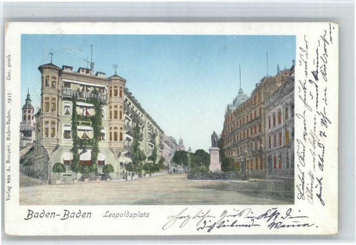 Baden-Baden Baden-Baden Leopoldsplatz Goldfenster x / Baden-Baden /Baden-Baden Stadtkreis