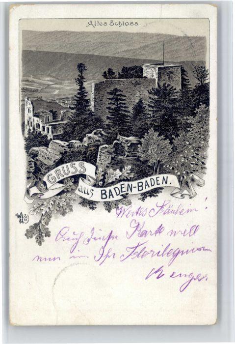 Baden-Baden Baden-Baden Altes Schloss x / Baden-Baden /Baden-Baden Stadtkreis