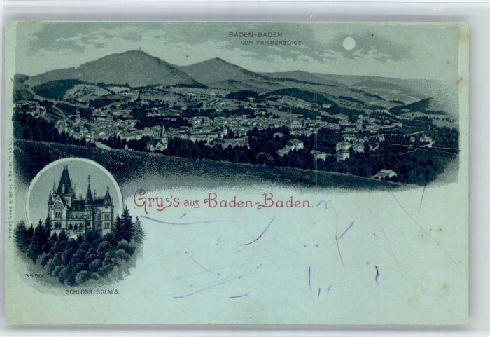 Baden-Baden Baden-Baden Schloss Solms * / Baden-Baden /Baden-Baden Stadtkreis