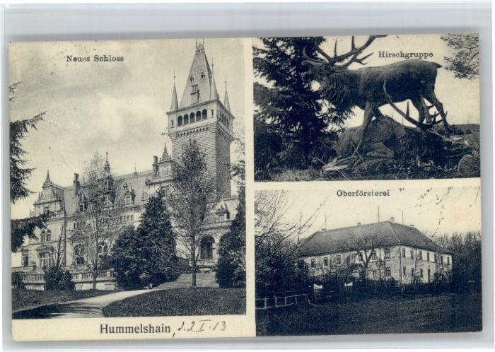 Hummelshain Hummelshain Neues Schloss Hirschgruppe Oberfoersterei x / Hummelshain /Saale-Holzland-Kreis LKR